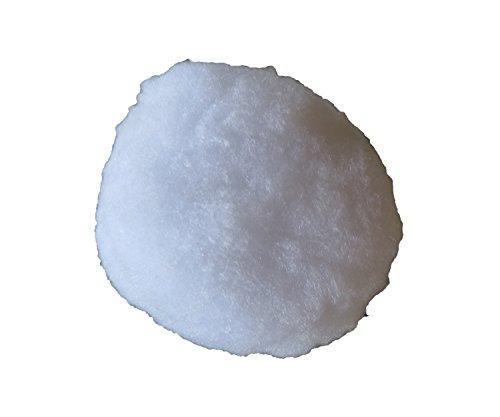 pemmiproducts sneeuwballen 9 cm van sneeuwwatten, 3 zakjes à 4 stuks, totale hoeveelheid: 12 stuks, (EUR 1,04 per stuk), met hanger, winterdecoratie, sneeuw, kunstsneeuw