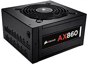 Corsair CP-9020044-NA AX860 ATX Power Supply - 860 Watt 80 PLUS Platinum Certified Fully-Modular PSU