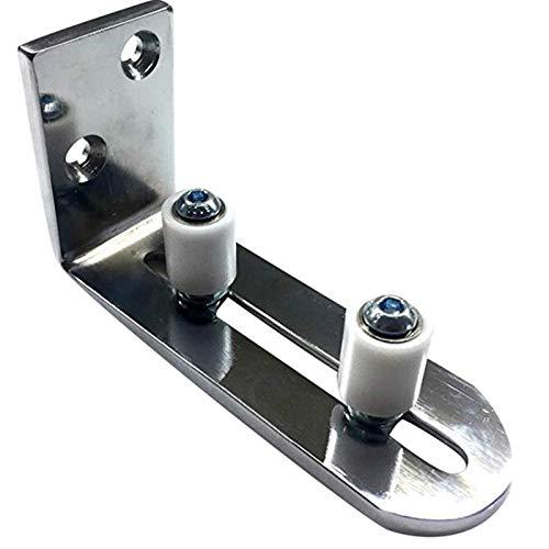 Stainless steel linear guide Guía del piso para la parte inferior de las puertas correderas Montaje de pared ajustable Montaje en rodillo de rodillo de rodillo rodamientos de bolas Easy to install