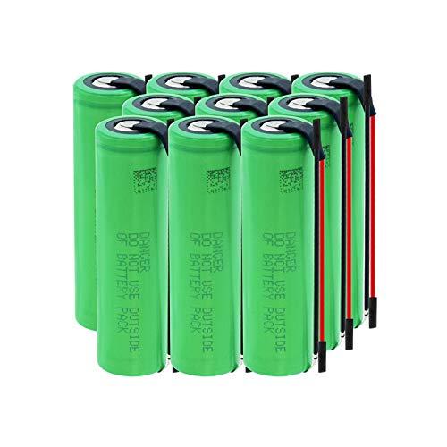 zhoudashu Batería De ión De Litio De 3.7v 3000mah 18650, Uso Recargable para La Radio del MicróFono 10pcs