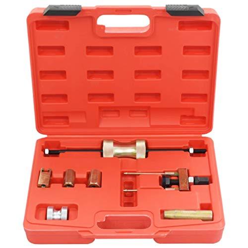 vidaXL Laser Einspritzdüsen Abzieher Set Kohlenstoffstahl Injektor Werkzeug