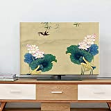 catch-L Interior Pantalla LCD TV Cubierta De Polvo Colgando Vertical Cubierta De La Pantalla (Color : BH14-11, Size : 58inch-136 * 85cm)