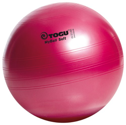 Togu Gymnastikball My-Ball Soft, rubinrot, 65 cm, 418652