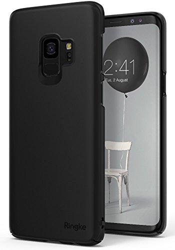 サムスン Galaxy S9 ケース Ringke [Slim] 超薄型ケース ストラップホール 落下防止 スクラッチ保護 スマホケース スリム ライト docomo SC-02K au SCV38 (Black/ブラック/黒)