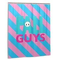 Fall Guys フォールガイズ シャワーカーテン お風呂用 目隠し 防カビ 厚手 防水 180x150cm