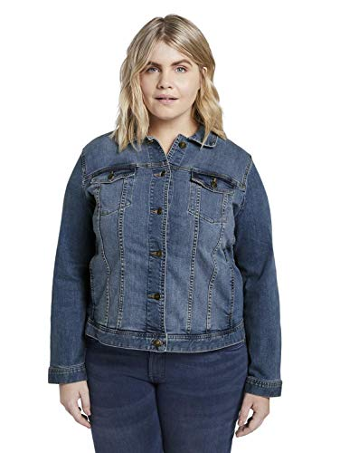 TOM TAILOR MY TRUE ME Mujer Denim Chaqueta de jean Not Applicable,Azul ( 10110/Blue Denim ) ,46
