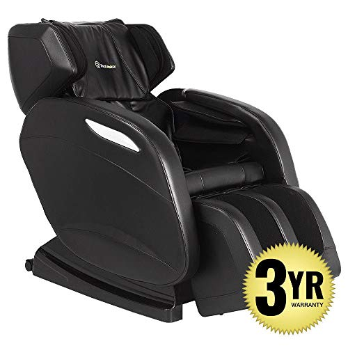 2019 Full Body Massage Chair + 3yr Warranty. Electric Zero Gravity, Foot Roller, Shiatsu Recliner with Heat and Audio. Newest Real Relax Model (Brown)