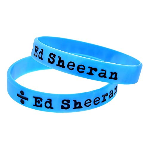Xi-Link Ed Sheeran Mano Ed Sheeran con Pulsera de Silicona Suave Accesorios Pulsera de la Estrella del Pop británico