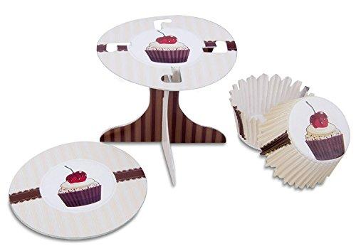Staedtler Städter 336186 Muffin Kit de décoration Café Maison, Carton/Papier, Blanc/Marron/Rouge, 10 x 10 x 9 cm