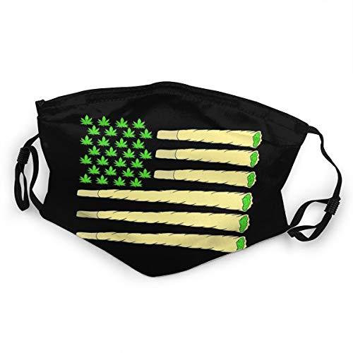 Mundschutz für Kinder, Amerikanische Flagge, Marihuana, Weed, Cannabis, wiederverwendbar, verstellbar