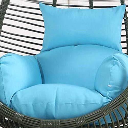 SXFYWYM hangstoel kussen rieten rotan stoel kussen ronde schommelstoel pad verdikking comfortabele stoel kussen verwijderbaar