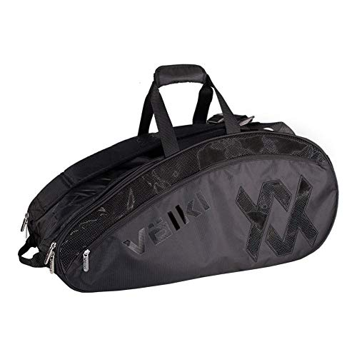 Volkl-Tour Combi Tennis Bag Black and Stealth-(687437695629)