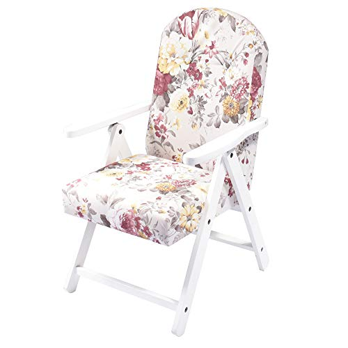 HOUSE COLLECTION hsc1399 Fauteuil Siena MOLISANA, Blanc Shabby/fiorate