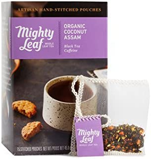 Mighty Leaf , Coconut Assam at least 95 % Organic , Pack of 1