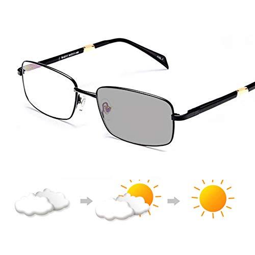CYY Gafas de Sol Grises Fotocromáticas de Moda para Hombres y Mujeres,Gafas de Lectura Progresiva Multiple Focus con Bloqueo de Luz Azul,Lectores de Computadora Antirreflejos(1.0,2.0,3.0)