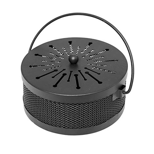 Black Mosquito Coil Holder Incense Coil Burner Indoor Outdoor Camping Use Portable Mosquito Repellent Coil Holder Incense Burner Holder 6.2 Inches Diameter