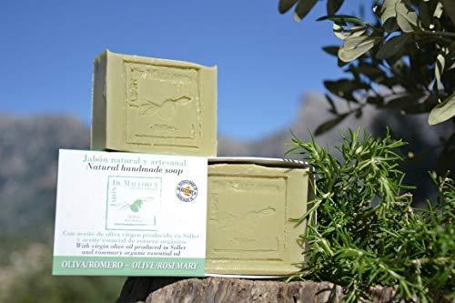 Natürliche Rosmarin und Olivenölseife aus Mallorca