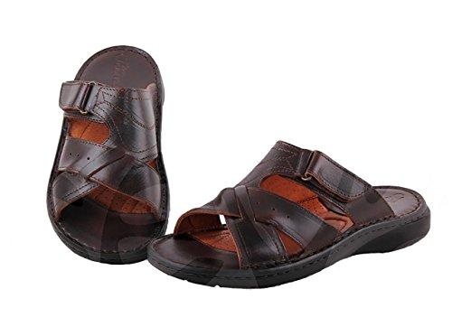 Innovation – 9016 – Herren-Sandalen aus Leder, Braun - braun - Größe: 44 EU