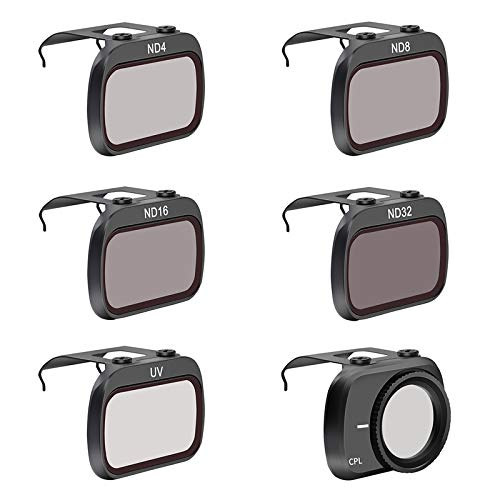 Fenmic Filtro di protezione dell'obiettivo per DJI Mavic Mini 2 Drone (UV+CPL+ND4+ND8+ND16+ND32)