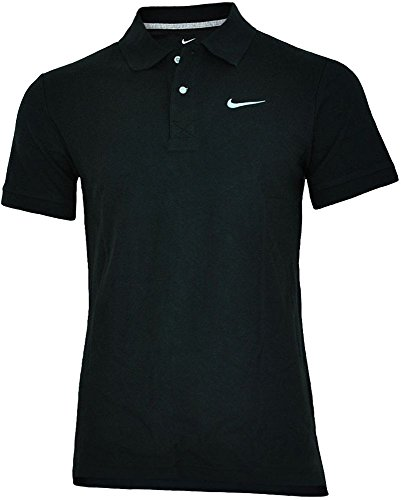 Nike Classic Polo Herren Sport Fitness Baumwolle Poloshirt Shirt Schwarz, Grösse:M