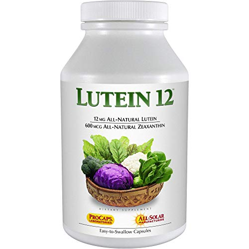 Andrew Lessman Lutein 12 mg - 180 Softgels – Supports The Protective Anti-oxidant Role in The Eye and Skin. Protects Tissues from Ultra-Violet Radiation, Harmful Blue Light, Normal Aging Process