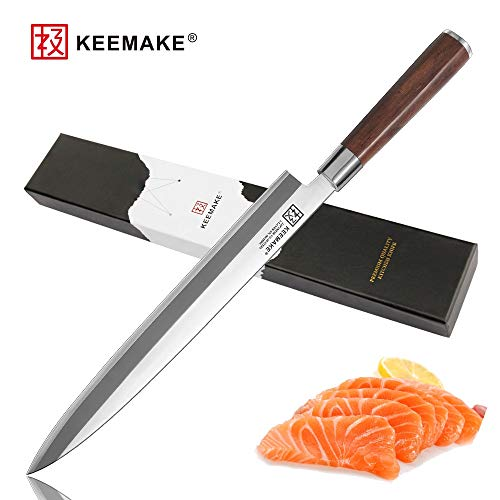 Best Quality Kitchen Knives Premium 10.5 inch Sashimi Kitchen Knives Japanese VG10 2 Layer Stainless Steel Blade Sharp Fish Fillet Knife Wood Handle