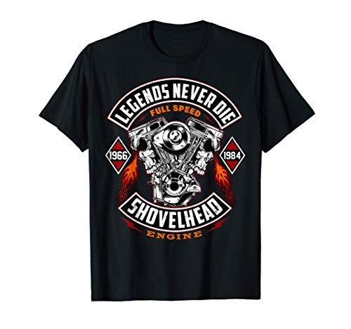 SHOVELHEAD 1966-1984 MOTOR Motorcycles Oldschool Choppers T-Shirt