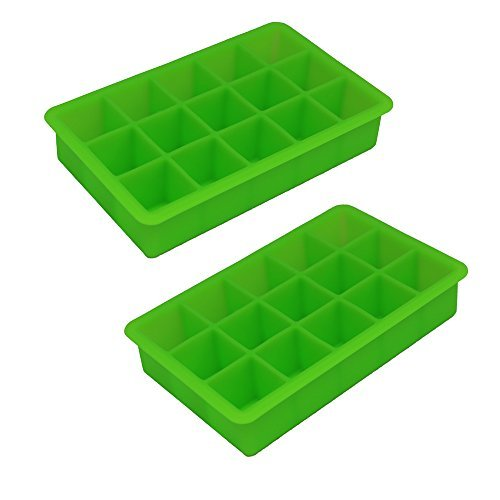 Perfect Cube Ice Trays, Spring Green - Set of 2