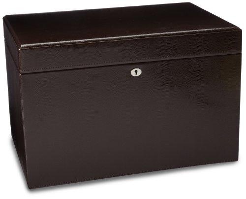 WOLF 315006 London Large Jewelry Box, Cocoa