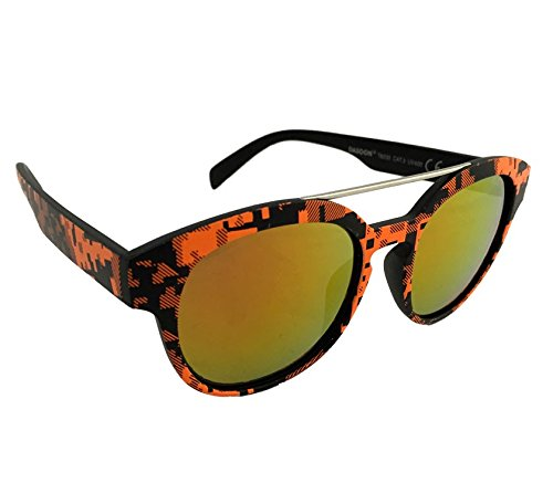 Dasoon Vision Gafas de Sol con Estampado geométrico en Naranja