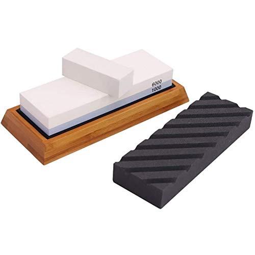 Afilado de cuchillos de piedra gruesa Conjunto aplanamiento de piedra piedra de afilar 1000 6000 arenilla de piedra de agua mejor cuchillo Kit de Piedra Sacapuntas