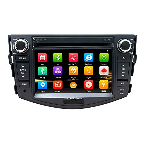 NVGOTEV Car Radio DVD Player Navigation Fits for Toyota RAV4 2006-2012 Auto Audio GPS Bluetooth Multimedia Stereo