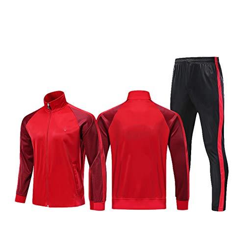 Mikelabo - Conjunto de Entrenamiento de Camiseta de fútbol de Manga Larga para Hombre chándales completos Pantalones de Jogging Sudaderas de Gimnasia Conjunto de Entrenamiento