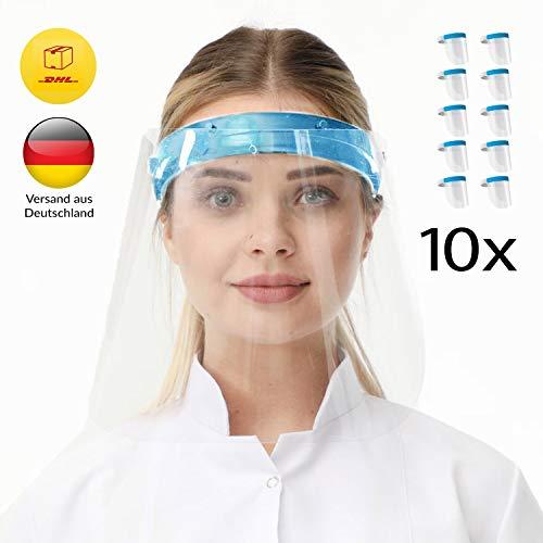 Protección de la cara para los ojos, con banda de goma ajustable para hombres, fabricado en Europa, Azul