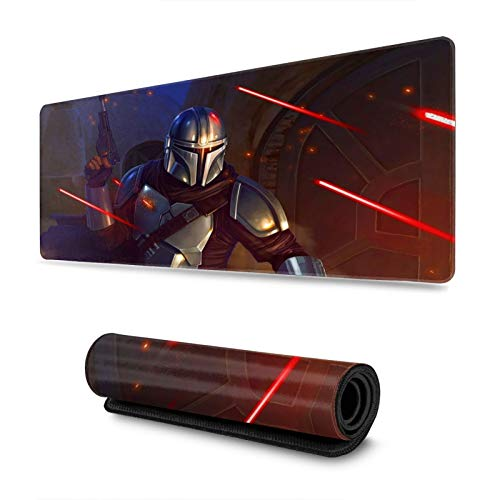 Mouse Pad Star Mandaloria_n Wa_rs Large Gaming Mouse Pads with Nonslip Base Portable & Foldable for Computer PC Keyboard(31.5 X 11.8inch)