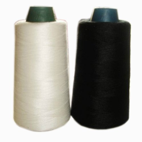 Great Price! Pigeon Fleet Black and White Spools Polyester Sewing Thread 3000 Yards Each, 2Packs