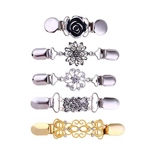 LUOEM 5 stks trui sjaal clip jurken vest legering diamanten kraag clip voor vrouwen meisjes