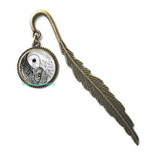 Segnalibro con gufo yin yang, segnalibro yin yang, gioielli a gufo, segnalibro Zen, segnalibro a cupola in vetro, segnalibro artistico, segnalibro spirituale per yoga, Q0096