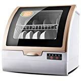OCYE Portable countertop dishwasher, 4 cleaning programs, 360° cyclone spray system, high temperature