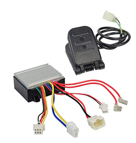 Throttle and Controller Kit for Razor Crazy Cart - 24V Control Module HB2430-TYD6K1 and Foot Pedal Throttle W25143490043 (6-Pin Connector) for the Crazy Cart V5+ and CC DLX V1+