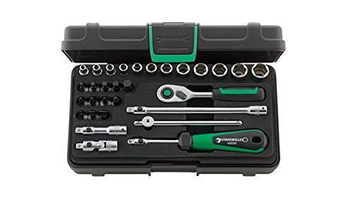 Stahlwille Steckschlüssel Set 30-teilig; ABS-Kunststoffkoffer; Steckschlüssel, Schraubendreher Einsätze; 1/4