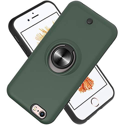 FAWUMAN Hülle für iPhone 6s / iPhone 6 mit Standfunktion, Dekomprimierungsknopf, Rotationsgyroskop, PC + TPU Handyhülle Stossfest Case -Dunkelgrün