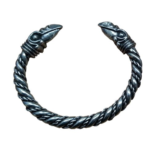 Pulsera Estilo Vikingo Cuervos de Odín (Hugin y Munin - Pensamiento y Memoria)