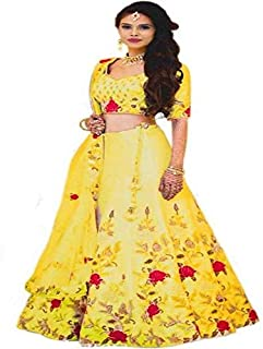 9463ab0139 Amazon.in: Yellows - Lehenga Cholis / Ethnic Wear: Clothing ...