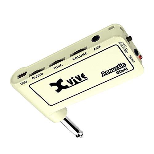 planuuik 1pc Gitarrenstecker Mini Portable Recharge Elec Headphone Amp Verstärker Acoustic/Rock/Metal