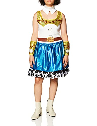 Disguise Disney Pixar Toy Story Jessie Glam Womens Adult Costume, Blue/White/Yellow/Black, Small/4-6