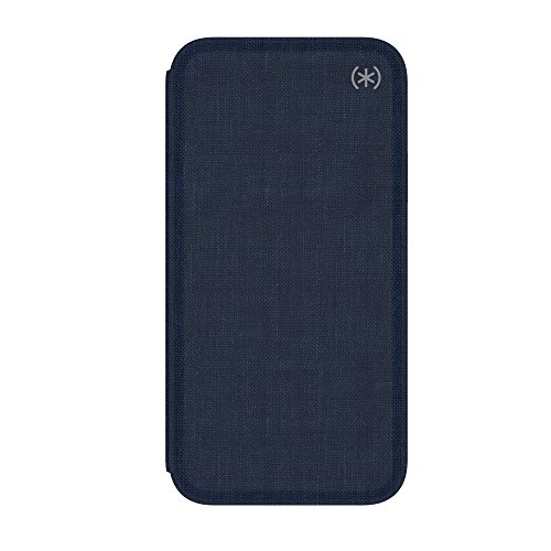 Speck Products Presidio Folio iPhone Xs/iPhone X Case, Heathered Eclipse Blue/Eclipse Blue/Gunmetal Grey