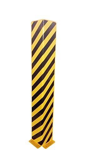 1A-Safety Anfahrschutz AFS-L-12 aus Stahl, Rammschutz, Kantenschutz, LxBxH: 160 x 160 x 1200 mm, L-Form, Gelb/Schwarz