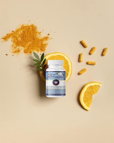 Suplemento natural para dolores en las articulaciones con cúrcuma, boswelia, extracto proteico del caracol y vitamina C para la formación del colágeno - Sin lactosa, sin gluten (30 cápsulas)