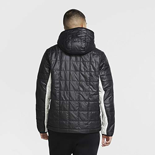 Nike INTERNATIONAL - Chaqueta sintética para hombre, talla XXL, color gris ahumado, negro